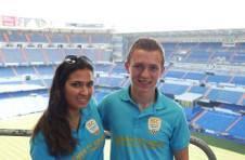 Thumbnail Les campeurs de l'ISC Spain au stade Santiago Bernabeú (Real Madrid)